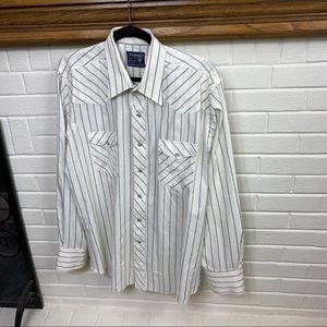 Vintage Wrangler cowboy shirt pearl buttons Sz XL